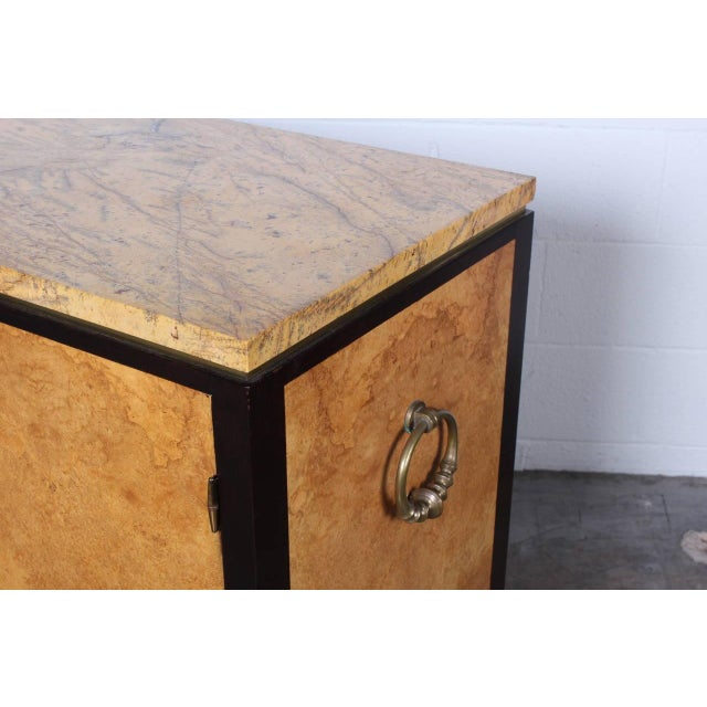 1950s Rare Olive Burl Cabinet by Edward Wormley for Dunbar For Sale - Image 5 of 10