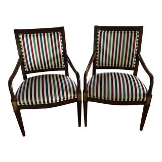 Late 20th Century Hickory Chair Regency Accent Chairs- A Pair For Sale