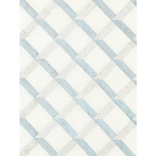 A two-tone lattice pattern is stitched in silky viscose against natural linen, creating a graphic, dimensional look. The...