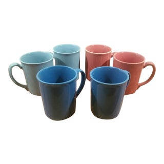 Assorted Color Corning Coffee Mugs - Set of 6
