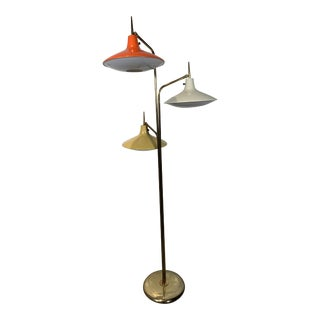 Vintage Triple Flying Saucer Floor Lamp in the Style of Gio Ponti For Sale