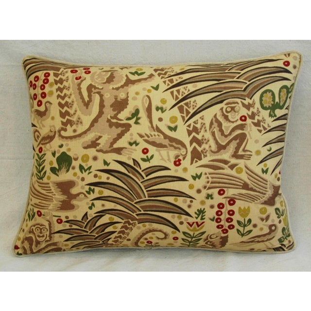 Custom Clarence House Gibbon Fabric Pillows- A Pair - Image 4 of 10