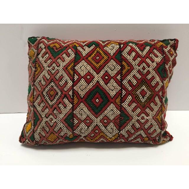 Moroccan Berber Handwoven Tribal Vintage Pillow For Sale - Image 9 of 9