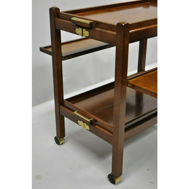 The Bombay Company Modern Rolling Folding Bar Cart For Sale In Philadelphia - Image 6 of 13