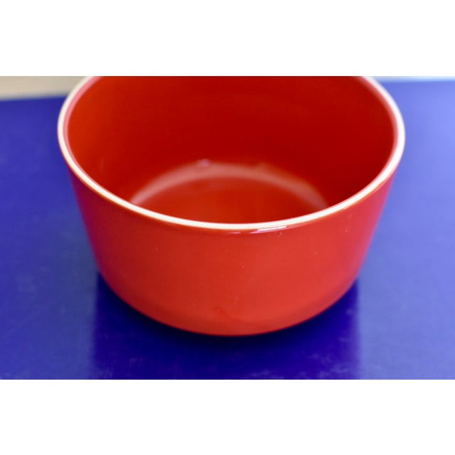 Red Bowl With White Rim - Image 5 of 6
