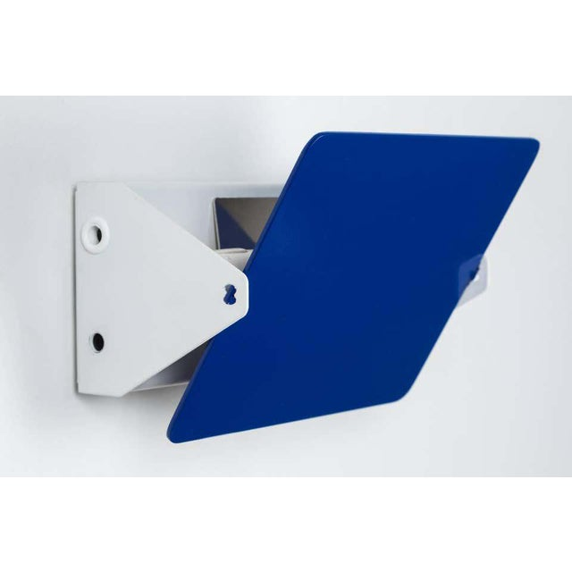 Metal Charlotte Perriand Blue 'Applique á Volet Pivotant' Wall Lights - a Pair For Sale - Image 7 of 12