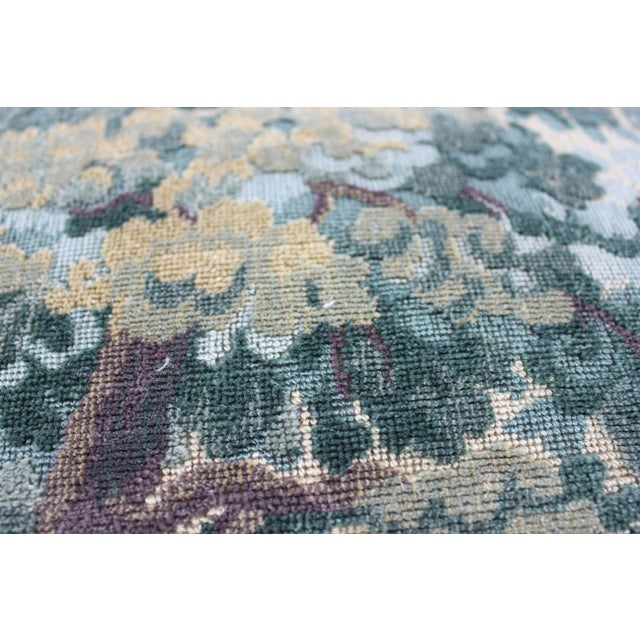 Belgian Lee Jofa Green Tapestry Throw Pillow For Sale - Image 3 of 4