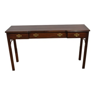 American Masterpiece Collection by Hickory Furniture Solid Mahogany Console Table For Sale