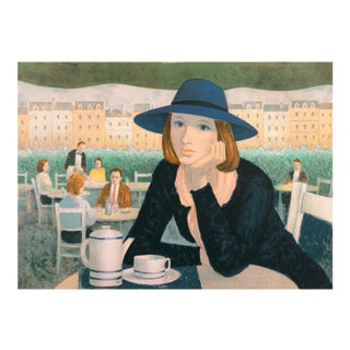 A Metropolitan Cafe by Angelina Lavernia For Sale