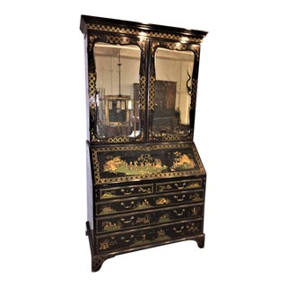 English Secretary Chinoiserie Bookcase, 1770 For Sale