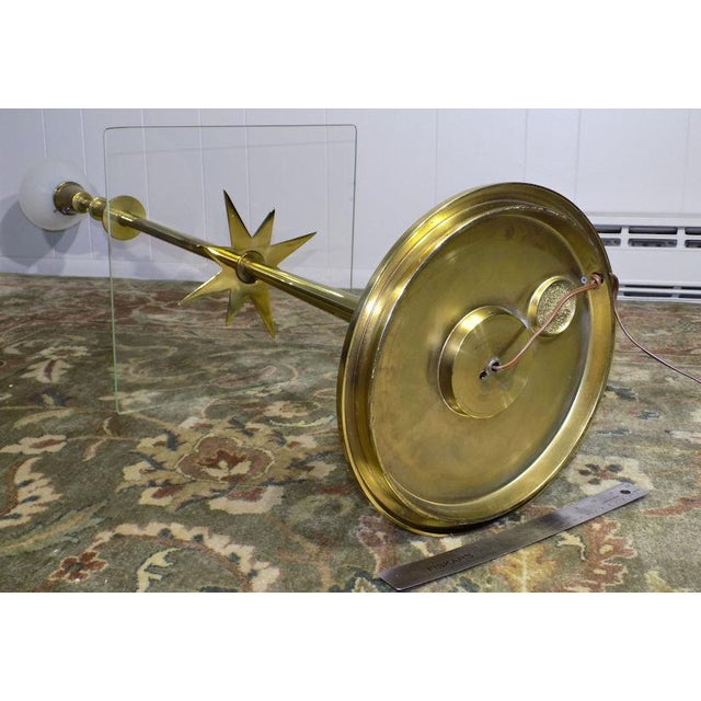 1960s Mid-Century Modern Stiffel Starburst Brass Torchiere Floor Lamp For Sale - Image 11 of 13