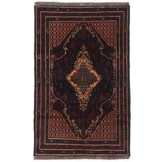 """Rizbaft Afghan Tribal Rug, 3'9"""" x 6'4"""" feet"""