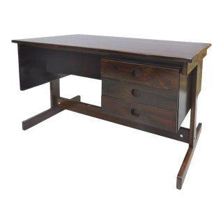 Jacaranda Desk by Joaquim Tenreiro, Brazil, 1950s For Sale