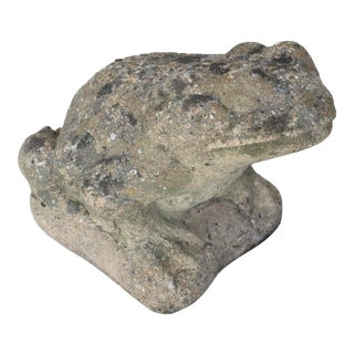 Mid 20th Century English Cast Stone Frog Garden Ornament For Sale