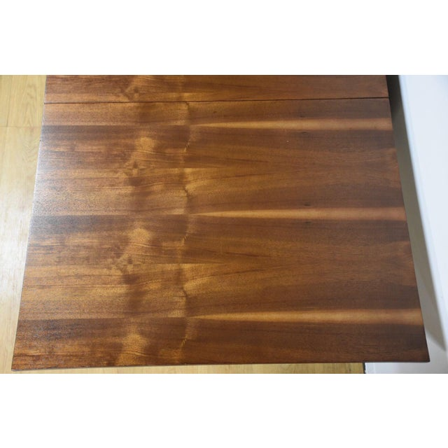 Walnut Dining Table and Self Storing Chairs - Set of 5 For Sale - Image 4 of 11