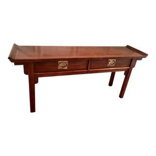 1970s Chinoiserie Century Furniture Altar Style Console Table For Sale
