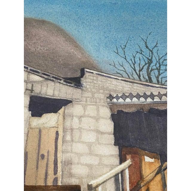 "Art Ellis ""Calico Mine, Joe's Saloon"" Original Watercolor C.1980 For Sale - Image 9 of 12"