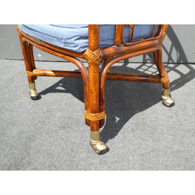 Mid-Century Modern Bamboo & Rattan Arm Chairs - 4 - Image 11 of 11