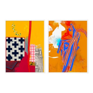 Baldessari & Condition Diptych by Jonathan Ryan Harvey, Art Print in White Frame, Large For Sale