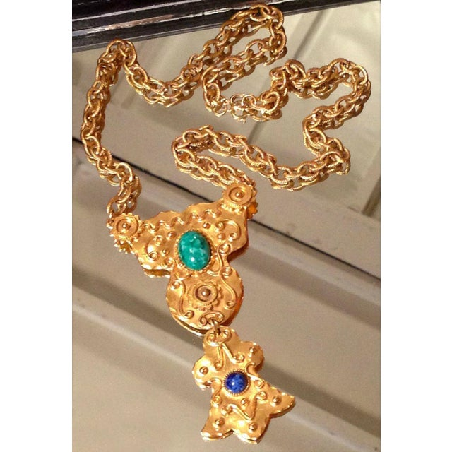 Vintage Egyptian Revival Statement Necklace For Sale In Los Angeles - Image 6 of 6
