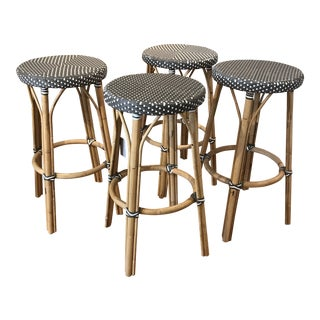 "Modern Sika Design Rattan ""Simone"" Cafe Bar Stools- Set of 4 For Sale"