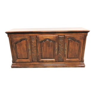 Hickory Furniture Country French Carved Oak Credenza For Sale