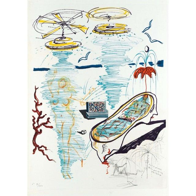 "1975 ""Liquid Tornado Bathtub"" Limited Edition Lithograph by Salvador Dali For Sale"