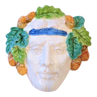 Vintage Italian Terra Cotta Face Mask For Sale