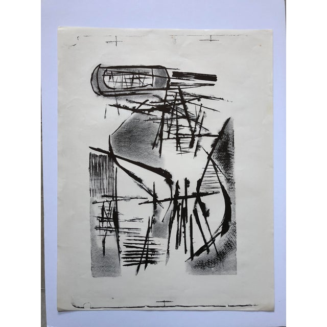 Jerry Opper Mid Century Abstract Stone Lithograph For Sale - Image 10 of 10