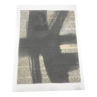 """1950s Abstract Painting , """"1959 Newspaper"""" by Franz Kline For Sale"""