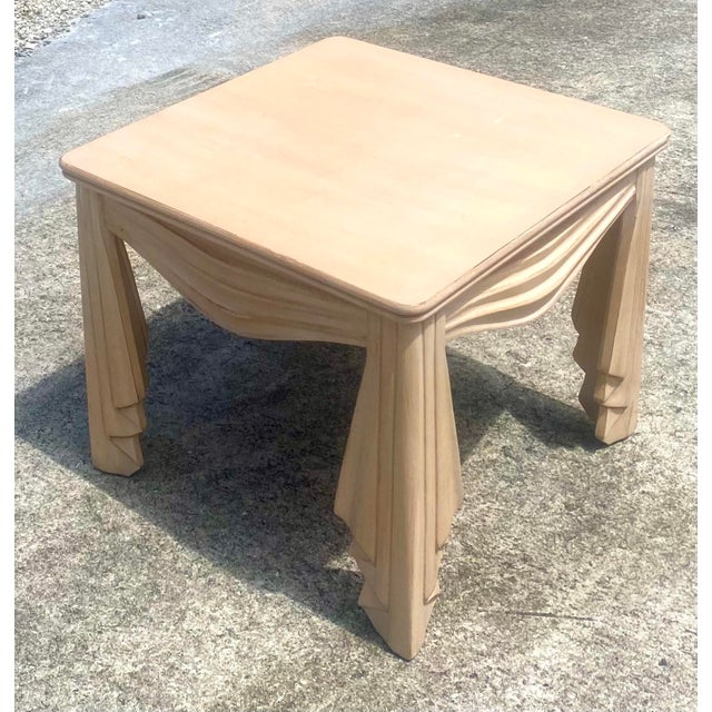 Wood Vintage Regency Swag Draped Side Table For Sale - Image 7 of 9