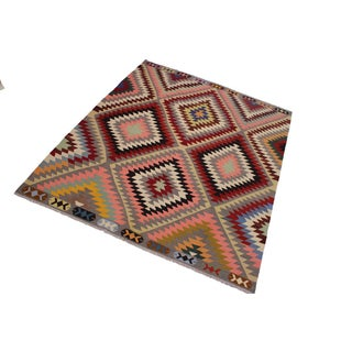 Navajo Style Hand-Woven Kilim Wool Rug - 8′5″ × 9′10″ Preview