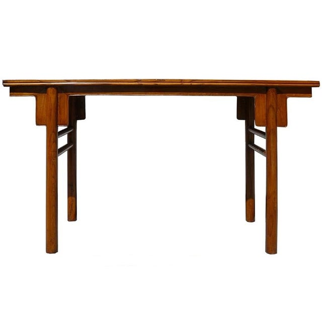 Chinese Natural Wood Altar Console Table - Image 1 of 5