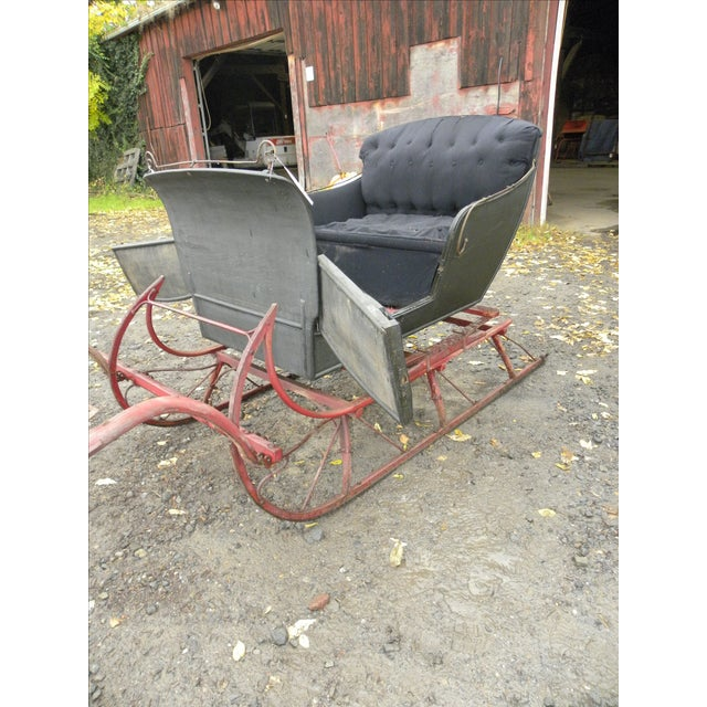 Antique Two-Passenger Sleigh - Image 9 of 10