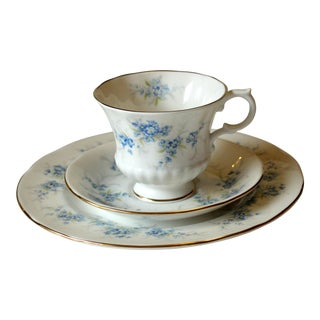 Vintage Porcelain Cup, Saucer and Plate Tea and Coffee Set, England - 3 Piece Set For Sale