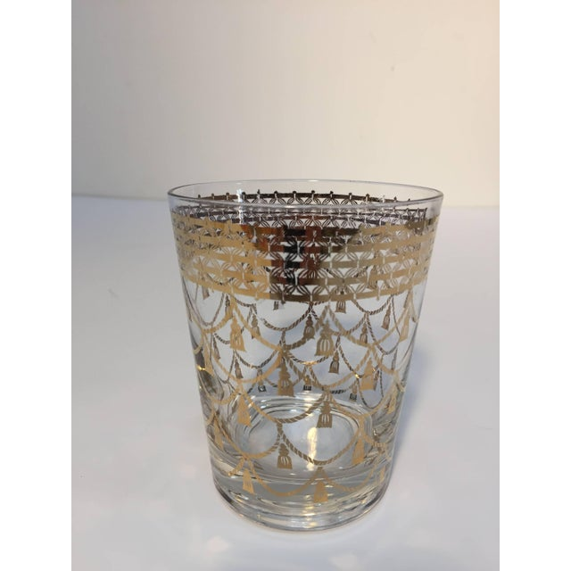 Mid 20th Century Vintage Cocktail Set of Midcentury Barware Glasses With Cocktail Shaker For Sale - Image 5 of 10