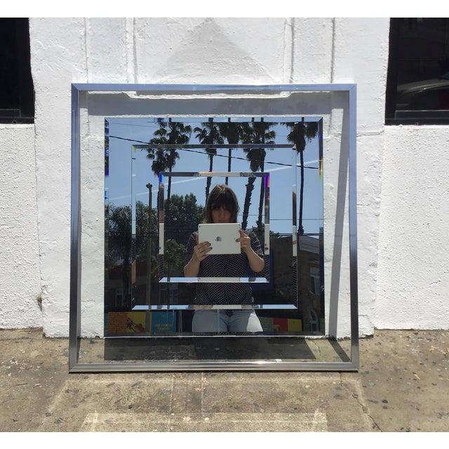 1980s Vintage 3D Framed Mirror For Sale - Image 11 of 11