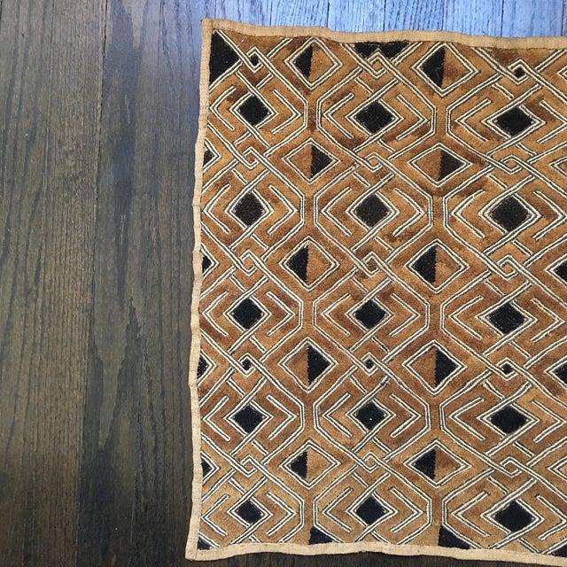 "Vintage Kuba Textile - 1'9"" x 1'7"" For Sale - Image 4 of 11"