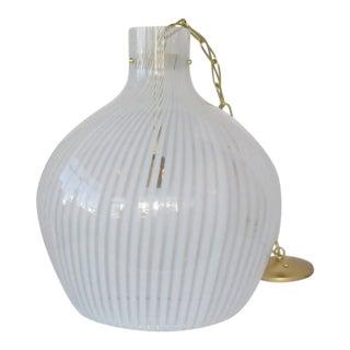 Oversized Italian Glass Pendant For Sale