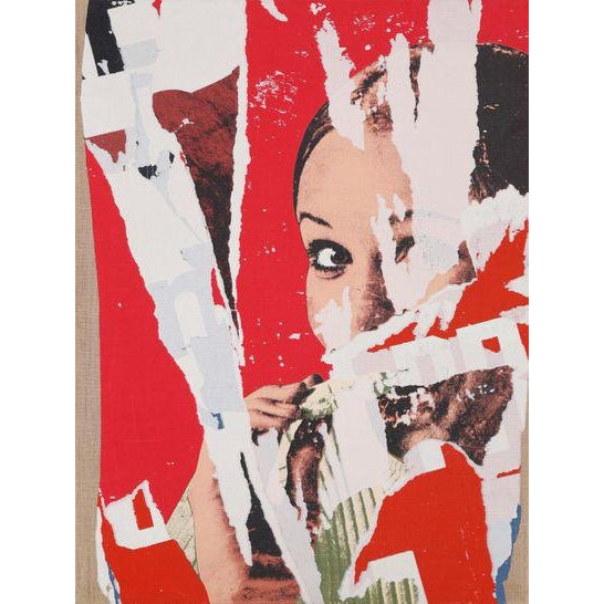 Pop Art Pop Art Mimmo Rotella Limited Edition on Canvas For Sale - Image 3 of 6