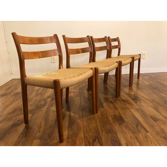 Niels Otto Møller for j.l. Møller Teak Dining Chairs, Model 84 - Set of 4 For Sale In Seattle - Image 6 of 13