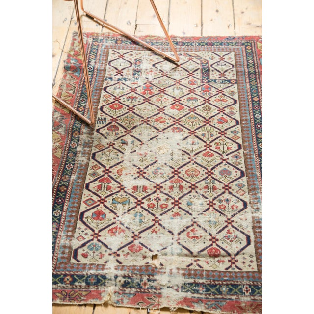 "Antique Fragmented Caucasian Prayer Square Rug - 2'10"" x 3'11"" For Sale - Image 5 of 10"