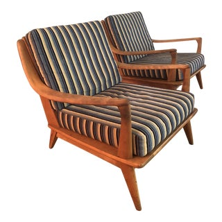 Heywood Wakefield Club Chairs - a Pair For Sale
