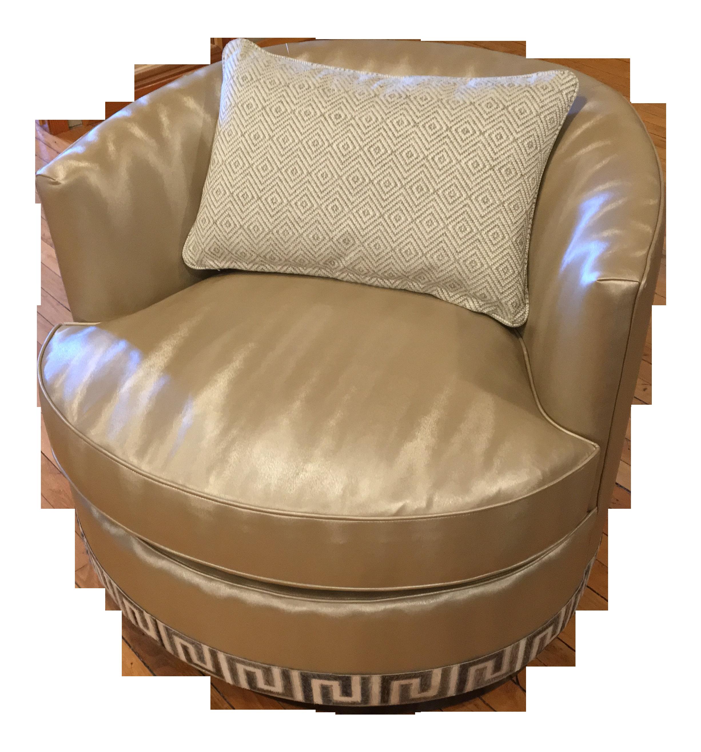 Custom Kravet Provo Swivel Chair + Pillow
