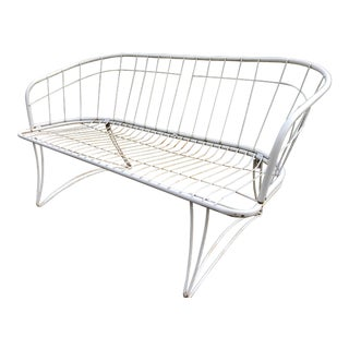 Vintage Homecrest Wrought Iron Patio Sofa For Sale