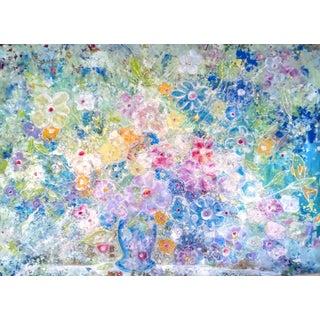 Large Original Modern Floral Painting For Sale
