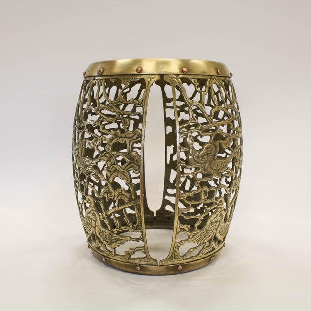 Asian Brass Chinosiere Garden Stool - Image 3 of 9