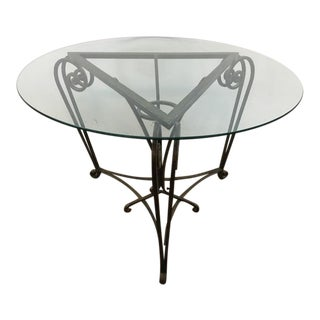 Contemporary Albert Paley Style Metal and Glass Accent Table