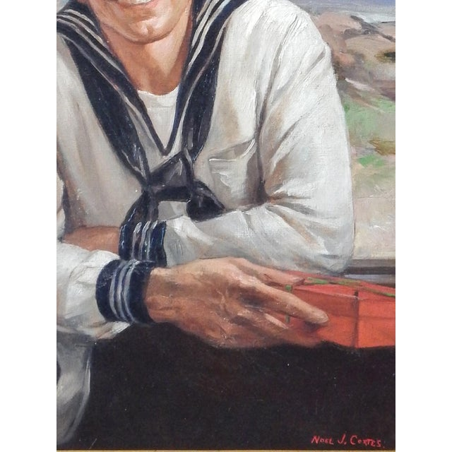 """""""On Shore Leave"""" by Listed Gay Artist, Noel J. Cortes. - Image 4 of 6"""
