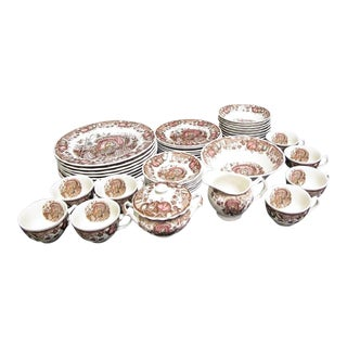 Vintage Johnson Brothers His Majesty Thanksgiving 42 Piece Dinnerware Set